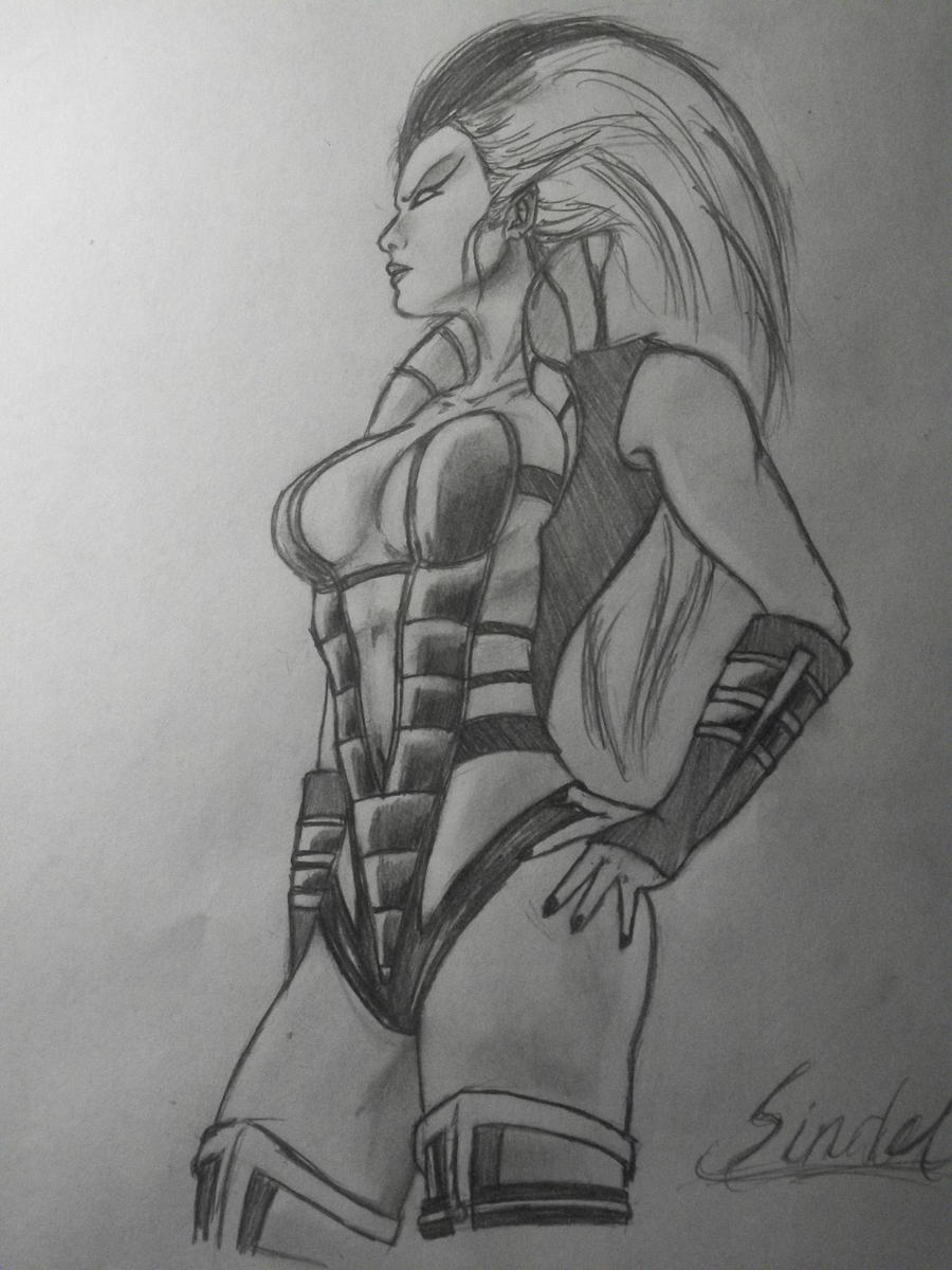 Mortal kombat kitana drawing