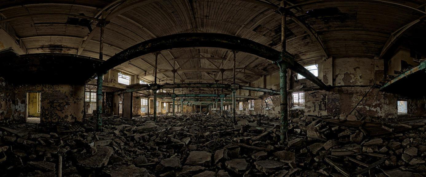 Lodz - old factory Anilana by kamzik