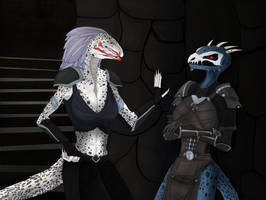 Female Argonians by AlienGryphon