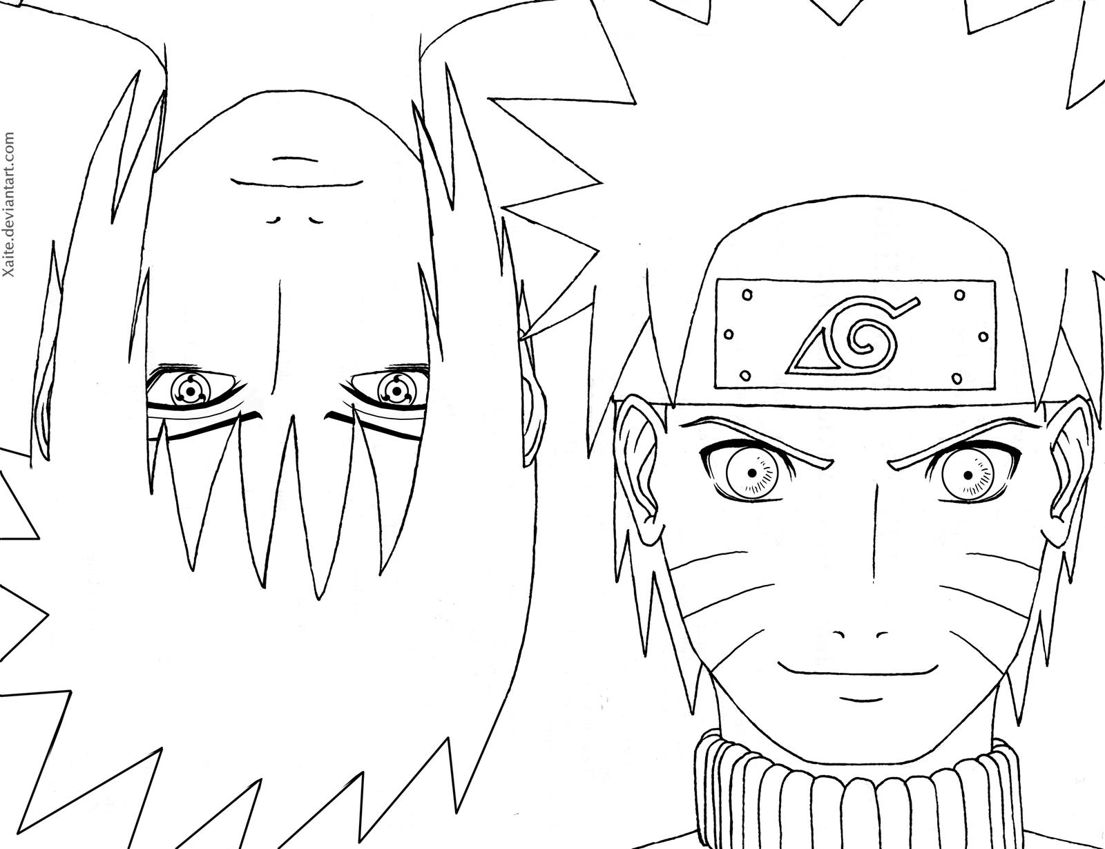 naruto coloring book pages - photo#48