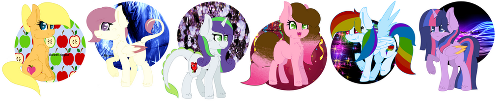 Paintverse: mane 6 with backgrounds by paintsong