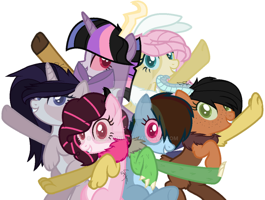 MLP Discord's kids crackships by paintsong