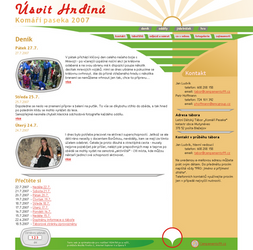 Website for Summer Camp 2007 by MatejCadil