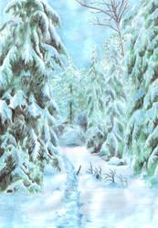 Winter Path by MatejCadil