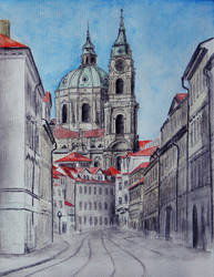 Church of Saint Nicholas in Prague by MatejCadil