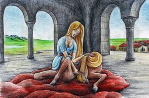 Centaur Girl Combing by MatejCadil