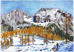 Golden Larches of Dachstein by MatejCadil