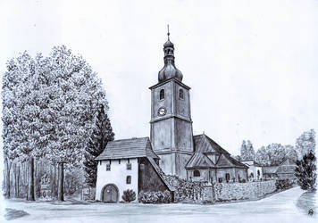 Church of St Adalbert in Vlcice by MatejCadil