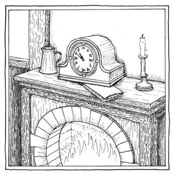 Bilbo's Mantelpiece Clock (Inktober Day 14) by MatejCadil
