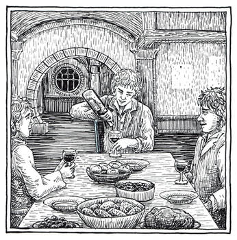 Frodo's Farewell Feast  (Inktober Day 18) by MatejCadil