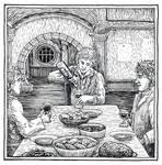 Frodo's Farewell Feast  (Inktober Day 18)