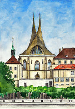 The Emmaus Church in Prague