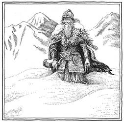 Helm Hammerhand's last stand (Inktober Day 4)