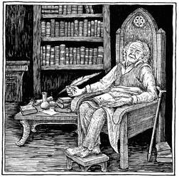Bilbo in Rivendell (Inktober Day 8)