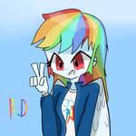 Rainbow dash(Birthday drawing)