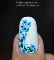 Blue Flower by Gorgeousnails