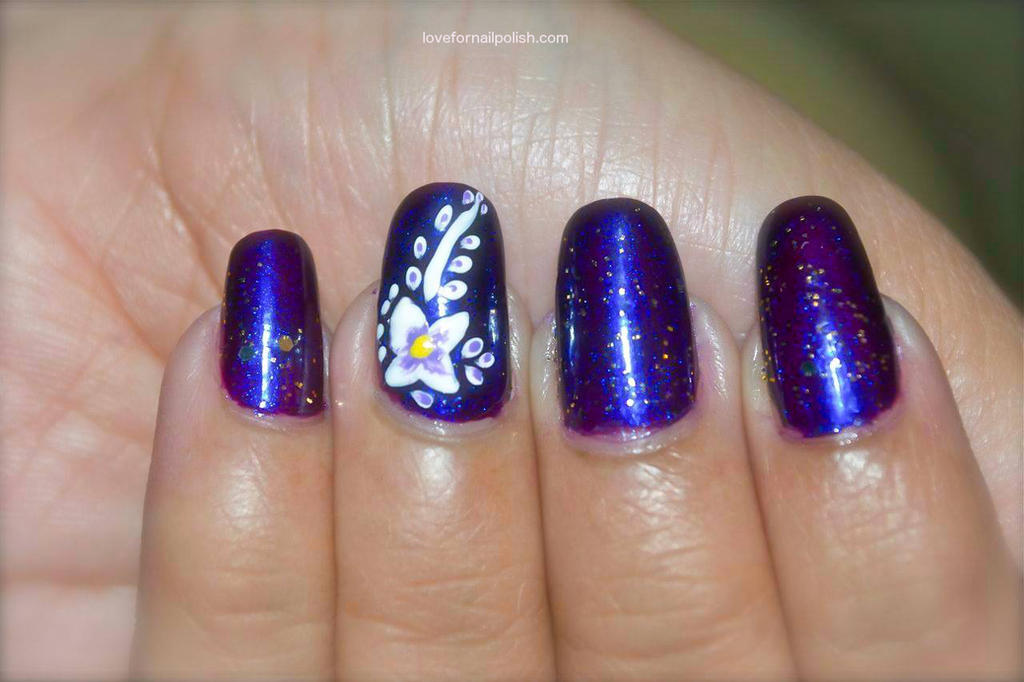 Purple and white flower nail art by gorgeousnails on deviantart purple and white flower nail art by gorgeousnails prinsesfo Image collections