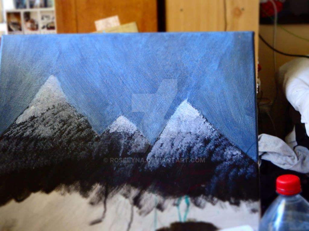 Forgotten Mountain and sky by Roselyna