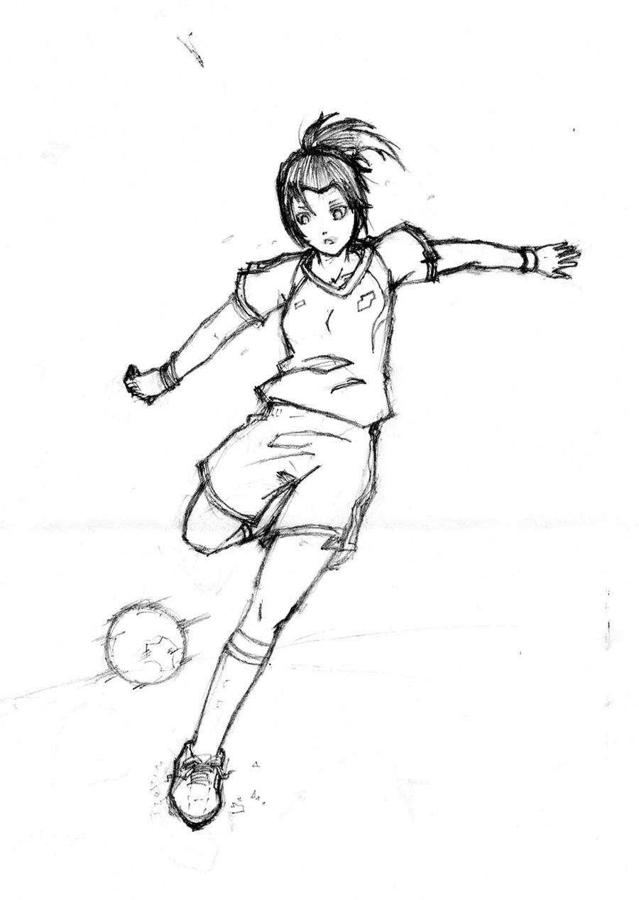 It is a picture of Refreshing Drawing Soccer Players