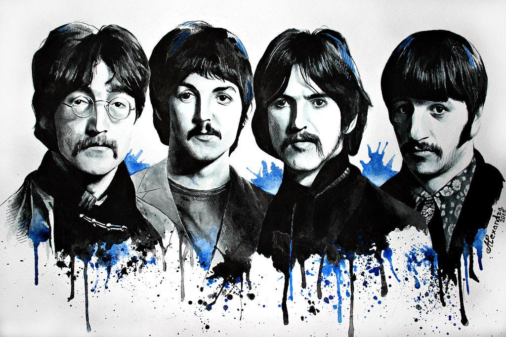 The Beatles by AlexandraMihailova