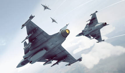 JAS Gripen and SU27 Flanker