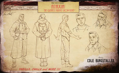 ATAXIA- Cole Burgstaller Character Sheet by InkVeil-Matter