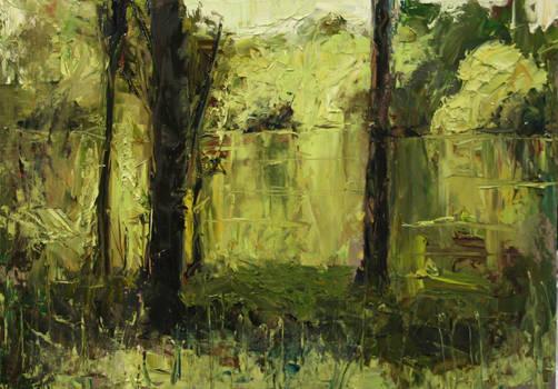 Near the Pond: A Study