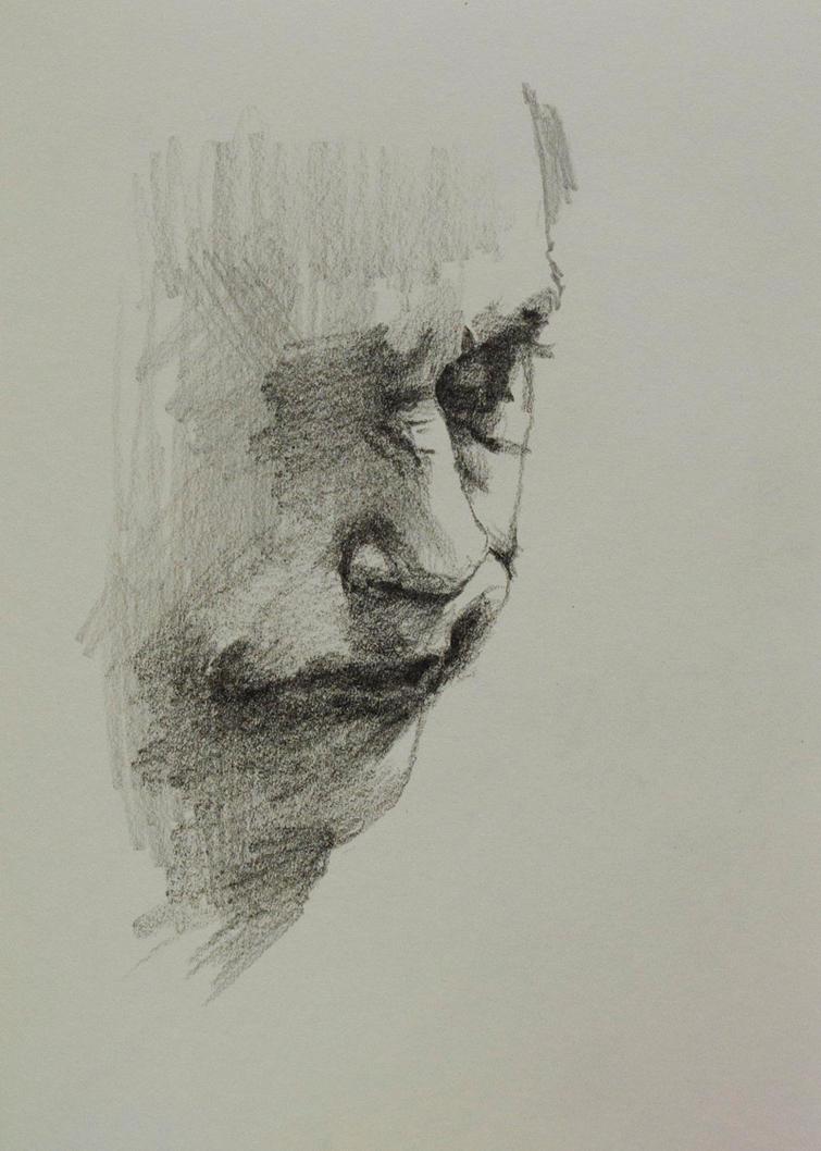 Joker: Pencil Study 2 by vee209