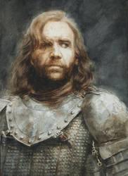 The Hound: A watercolour portrait