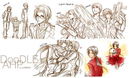 Hetalia axis power :: Doodle01 by zefiar