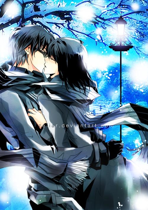 Commission - Blue Romance by zefiar