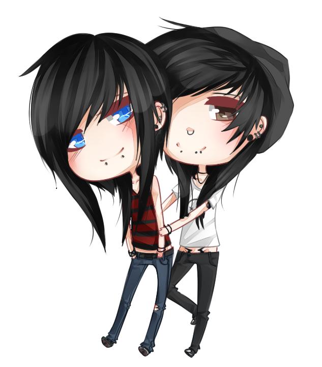 strxbe: Joshwa and Damien |chibi| by okita17