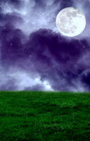 Premade Background Magic Moon by RavenMaddArtwork