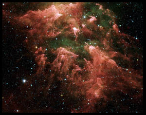 Red Space Texture Background