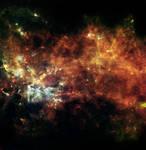 Space Background Orange