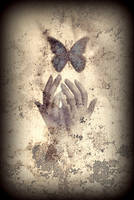 Nostalgic Butterfly Blues by RavenMaddArtwork
