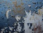 Blue Peeling Paint Stock