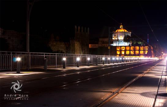 Upper deck of the bridge D Luis - Porto