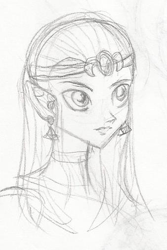 Zelda sketch by PichLechuga