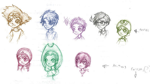 sketch - that children by PichLechuga