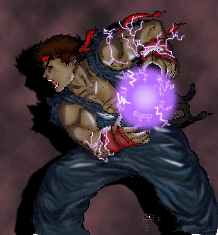 Evil Ryu by PichLechuga