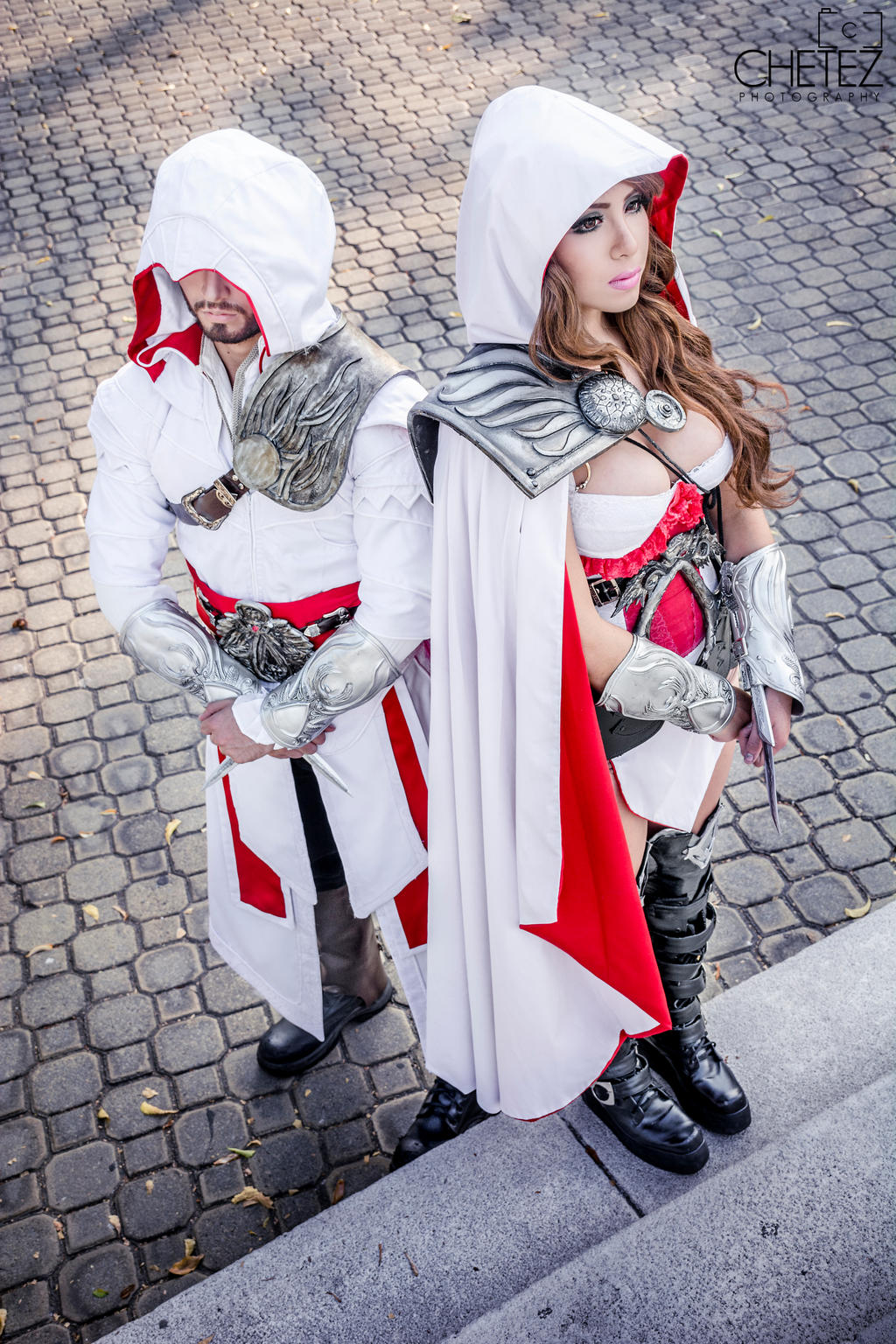 Ezio Auditore Cosplay Female And Male Version By