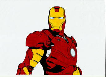 Iron Man - Sharpie by MauroZED