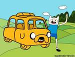 Adventure Time Jake Car and Finn by haydendjredskin