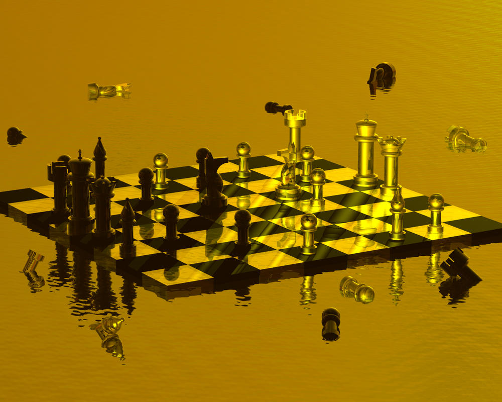 Chess in the Sea by redfalcon