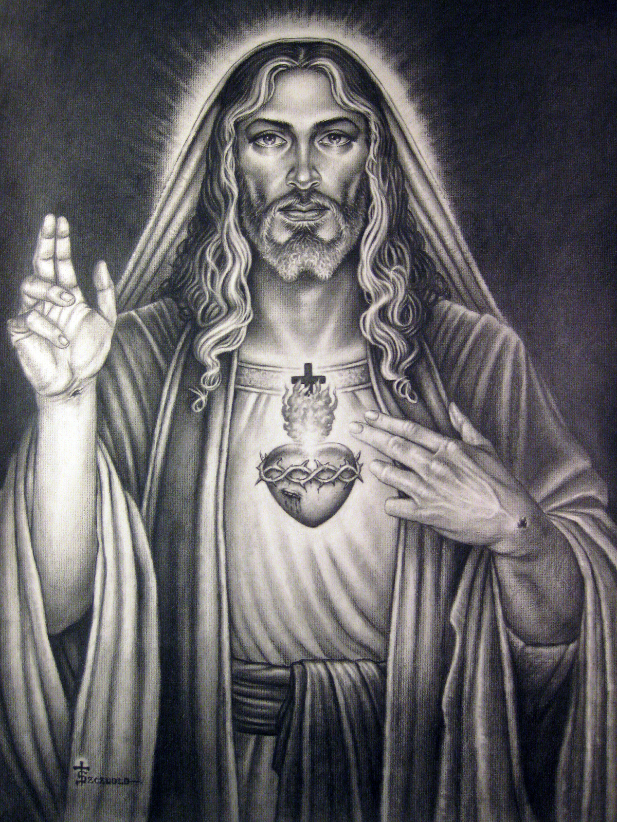 Sacred Heart Of Our Lord By Tonyszczudlo On Deviantart