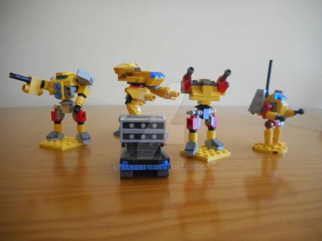 Micro-scale Lego Davion Lance