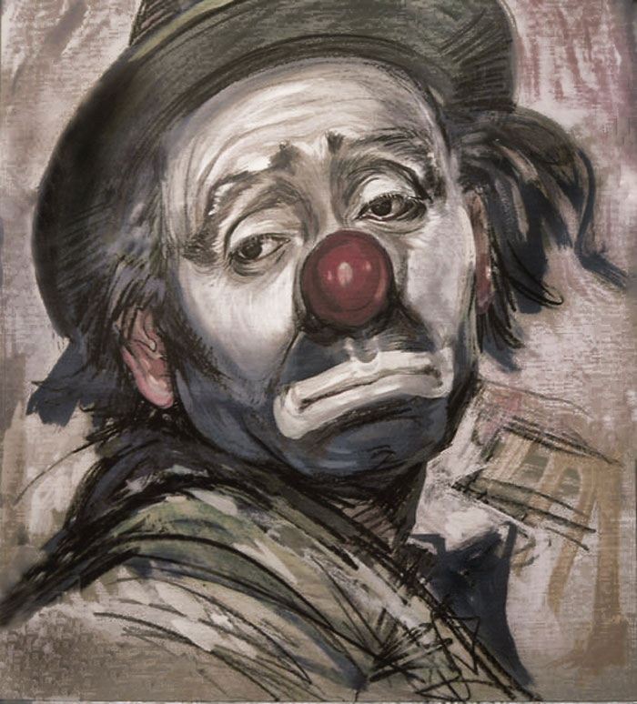 The Sad Clown by aiden-ivanov