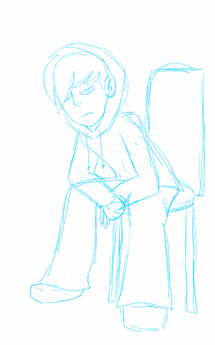 Random sketch of sad max I geuss by Mk2nd