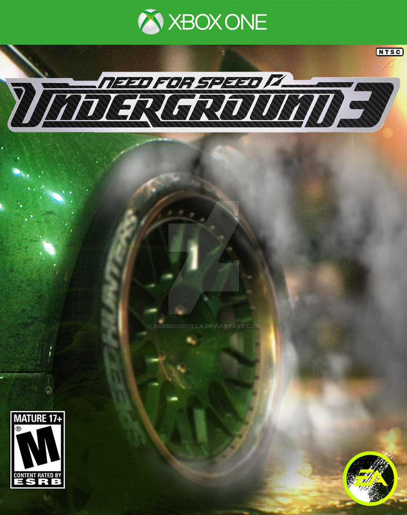 need for speed underground 3 custom cover by carricudizilla on deviantart. Black Bedroom Furniture Sets. Home Design Ideas